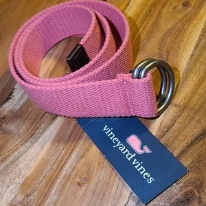 Vineyard Vines Canvas Belt - Jetty Red